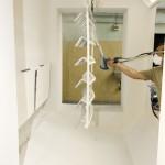 Ajtókilincsek festése porszórásos festéssel, NORDSON típusú porszóró berendezéssel