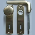 Lővér front-door knob set with key-hole (BB)
