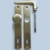 EL-74 bejárati gombos garnitúra kulcslyukas (BB)