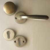 Safety front-door round knob set + rose