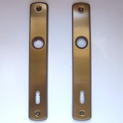 EL-74 back-plate with key-hole and variant punch-mark (BB)